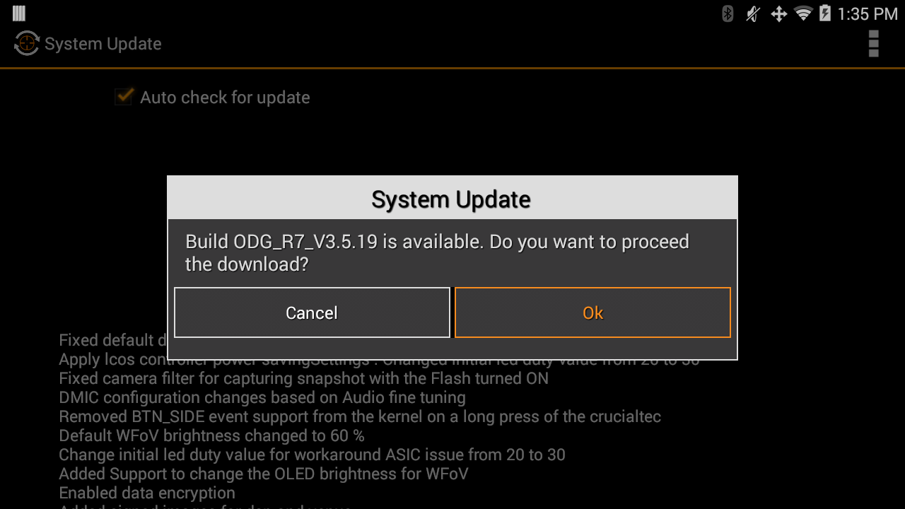 How to update the ODG operating system – Vital Enterprises